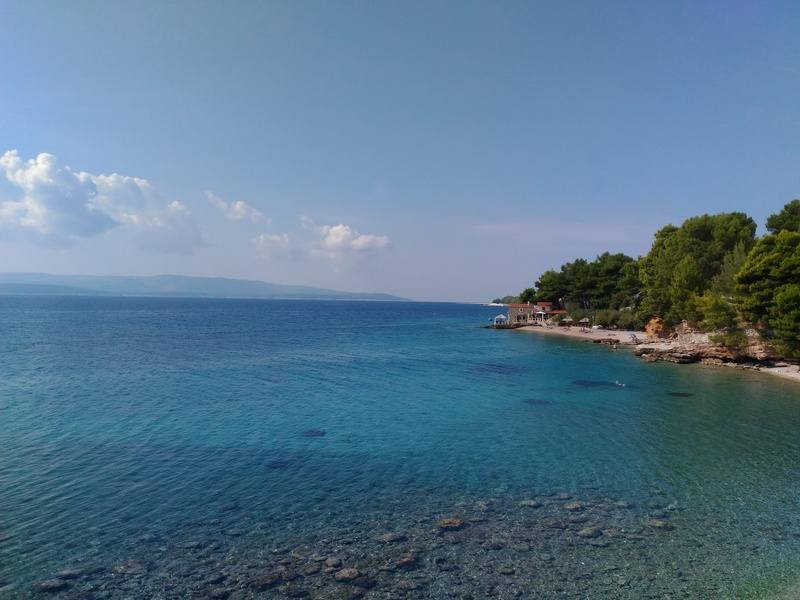 Crystal clear sea in Sumartin on Brac island