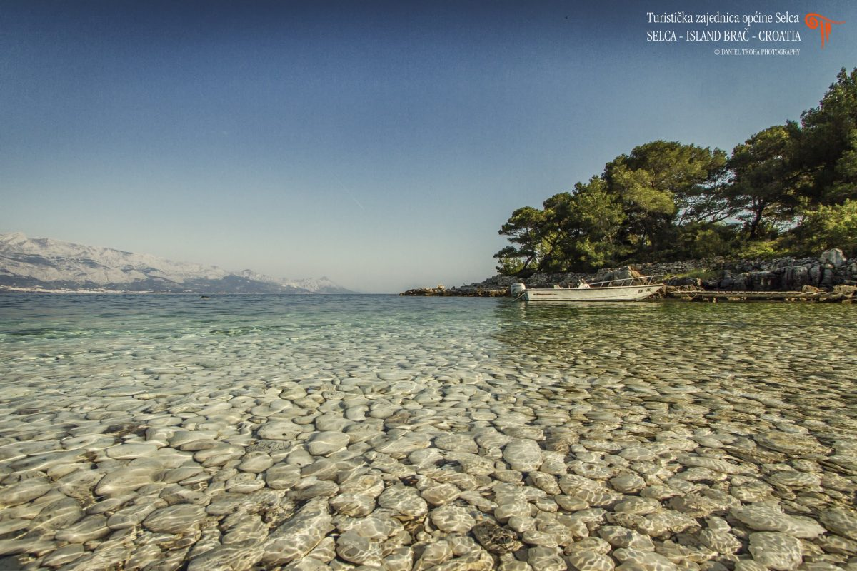 Astonishing pebble beach on the island of Brac